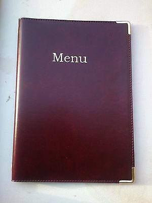 Qty 20 (Pu Leatherette) Top Quality A4 Menu Folder In Black Or Burgundy 2
