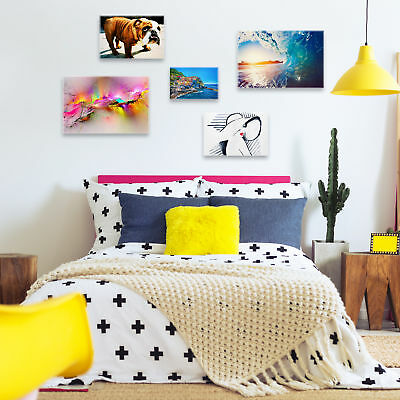ZAB1584 Colourful World Map Modern Canvas Abstract Home Wall Art Picture Prints 6