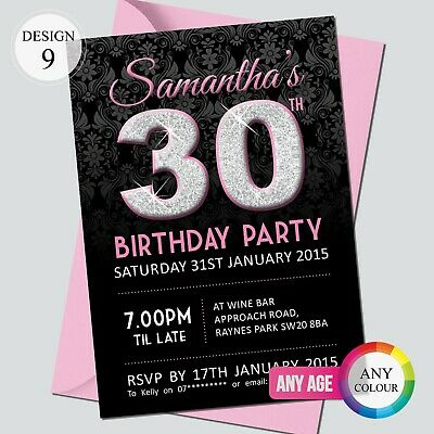 18th 21st 30th 40th 50th 60th Birthday Invitations Personalised Party Invites 11