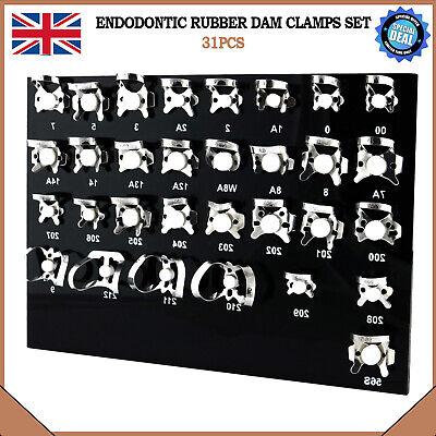 Rubber Dam Clamps universal Dental Restorative Endodontic Instruments Set of 31 2