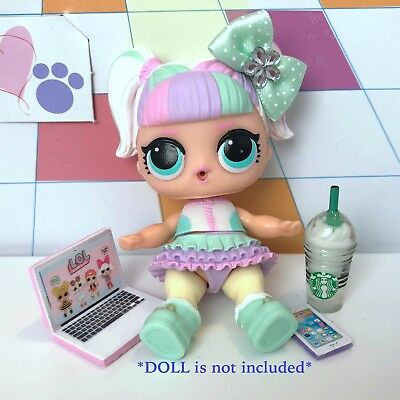 4 PC LOL Accessories Surprise Doll Starbucks Clothes Lot *Doll Not Included* 5