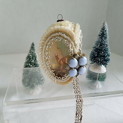 Unique Vintage Victorian Style H/Made Egg Shape Christmas Tree Ornament 2