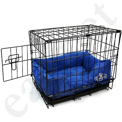 Dog Cage with Bed Training Metal Crate Puppy Pet Cat Carrier XS S M L XL XXL 4