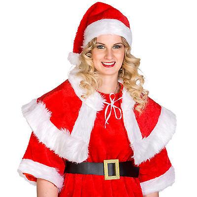 05344426cca25 ... Déguisement de Mère noël santa claus elfe lutin pour femme costume  carnaval fête 3