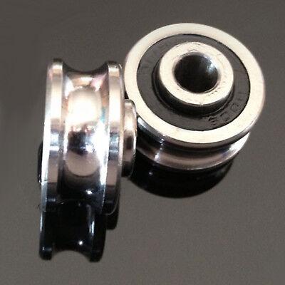 2pcs 6*24*11mm  U Ugroove BEARING SG20 sealed ball tack roller Groove Ball