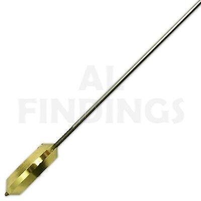 32mm French clock pendulum bob brass with steel rod regulating nut clockmakers 4