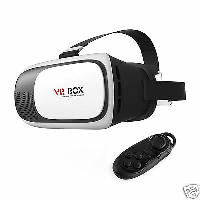 New VR Box 2nd Generation Google Virtual Reality 3D Glasses Bluetooth Control