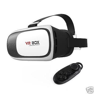 VR Box 2nd Generation Google Virtual Reality 3D Glasses Bluetooth Control