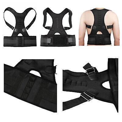 Posture Corrector Support Men Women Magnetic Back Shoulder Brace Belt Adjustable 12