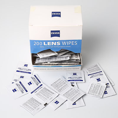 Zeiss Pre-Moistened Lens Cleaning Wipes 200 Ct Eye Glasses Screen Camera Cleaner 3