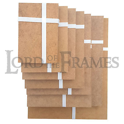 1 Of 4free Shipping Pre Cut Brown 2mm Mdf Picture Frame Backing Board Panels Framing Photo Craft