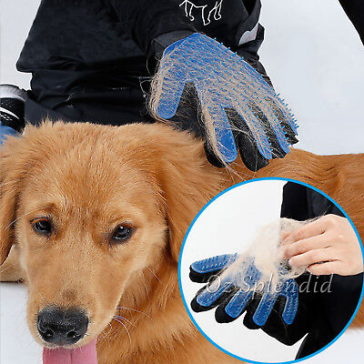 Pet Dog Cat Massage Hair Removal Grooming Comb Touch Cleaning Brush Magic Glove 4
