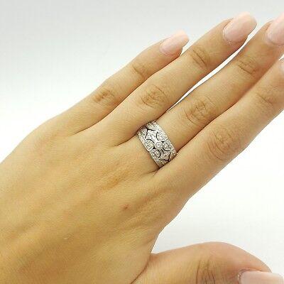 Ladies Ring 18ct (750, 18K) White Gold (0.55ct) Natural Diamond Dress Ring 7
