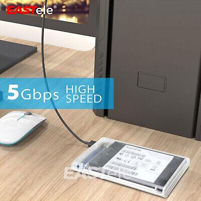 "USB 3.0 Transparent 2.5"" SATA 3.0 5Gbps SSD HDD Hard Disk Drive Enclosure Case 6"