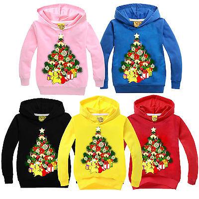 Natale Tema Bambino Felpe Con Cappuccio Giacca Top Vestiti 2