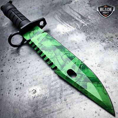 "13"" CSGO Tactical Fixed Blade Survival Hunting Knife Bayonet Military Bowie New 4"