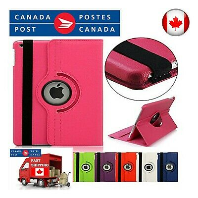 For iPad Case Cover Leather Shockproof 360 Rotating Stand ALL MODELS 5