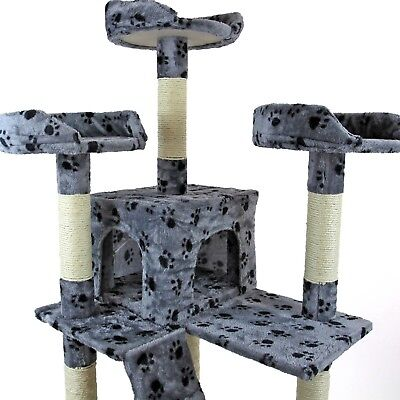 Cat Tree Activity Centre Scratcher Scratching Post Kitten Play Toy Scratch Bed 5