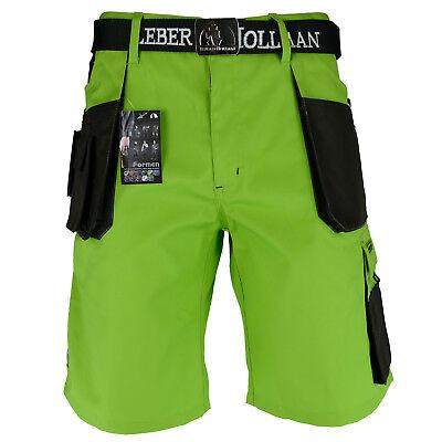Arbeitshose Kurze Hose Kurz Bermuda Shorts LH Hellgrün Braun Gr. S - XXXL