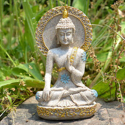 Thai Buddha Statue Home Decoration Resin Sandstone Yoga Meditation ZEN Sculpture 2