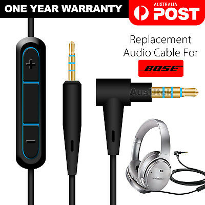 Cable Remote Mic For Bose QuietComfort 25 35 QC25 QC35 Headphone Android Phone 7