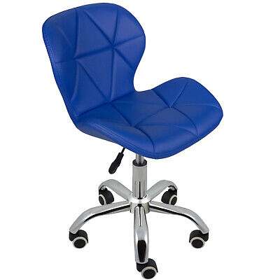 Cushioned Computer Desk Office Chair Chrome Legs Lift Swivel Small Adjustable 8