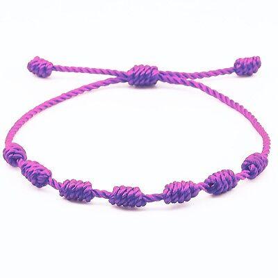 f536924986eb PULSERA ROJA DE 7 nudos de la suerte para hombre o mujer de hilo bracelets