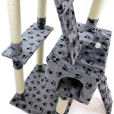 Cat Tree Activity Centre Scratcher Scratching Post Kitten Play Toy Scratch Bed 11