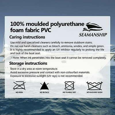 2X Folding Boat Seats Seat Marine Seating Set All Weather Swivel 11