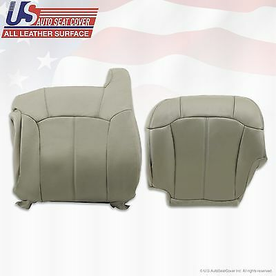 1999 2000 2001 2002 Chevy Tahoe Suburban Upholstery leather seat cover Gray 2