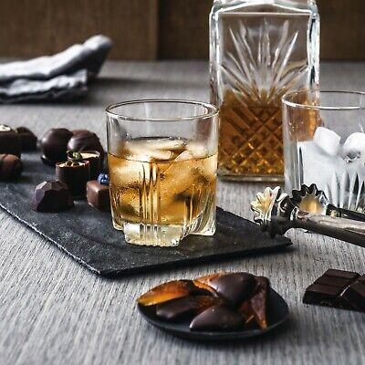 7 Glass Wine Whisky Bormioli Rocco Tumblers Whiskey Bottle Decanter Gift Box 6