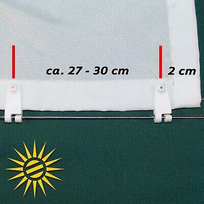Ausverkauf heiß-verkaufender Beamter niedrigster Rabatt SONNENSEGEL CREME GELB ca. 270x140 cm 20 Laufhaken Seilspannmarkise  Wintergarten