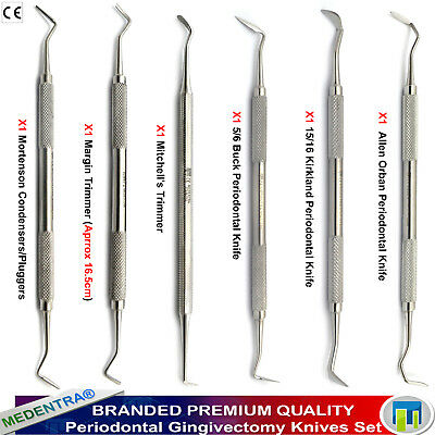 6PCS Periodontal Surgery Knife Orban Buck Perio Knives Margin Trimmers Mitchells 2