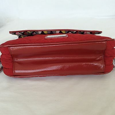 09af27ee45a ... TANGO RED Vera Bradley CHAIN SHOULDER BAG Microfiber Patent Leather  Trim New 11
