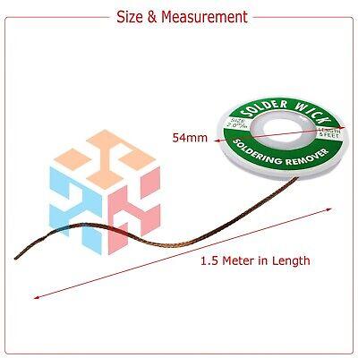 2.0mm Desoldering Braid Solder Remover Spool Copper Wick 5 ft 1.5m - USA Seller 3
