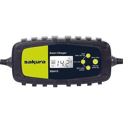 Sakura Smart Intelligent Battery Charger 6v 12v Lithium, AGM & Lead Acid 230v 6