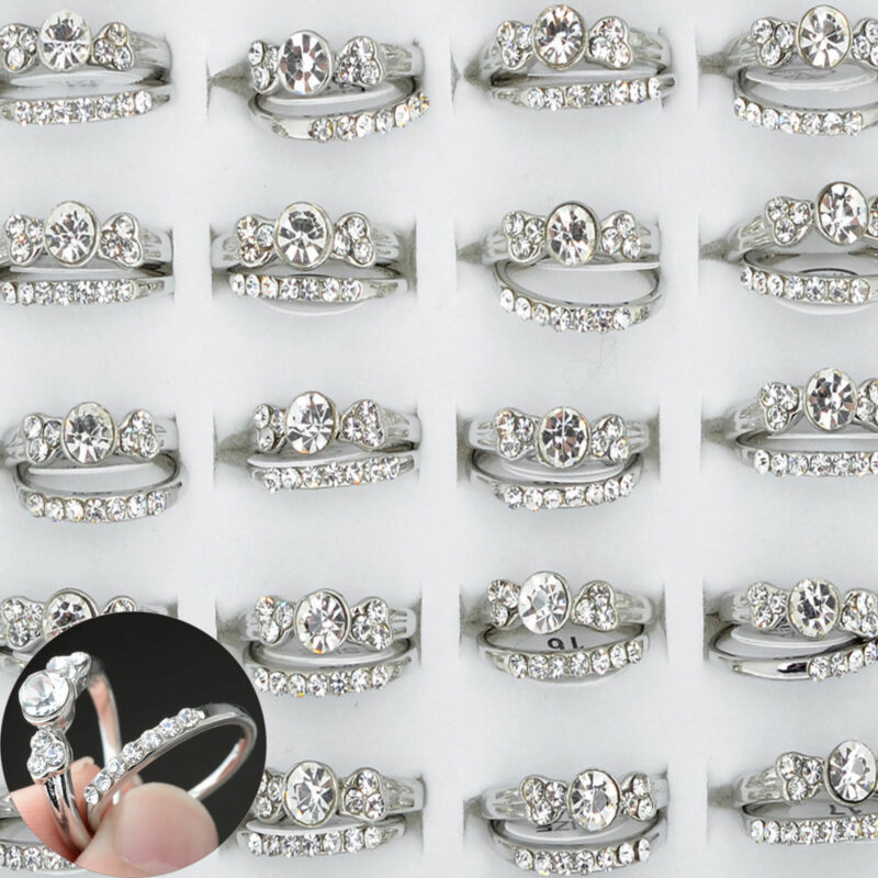 100/20Pcs Vintage Tibet Flower Silver Rings Wholesale Mixed Lots Costume Jewelry