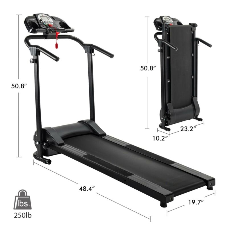 Folding Treadmill Electric Motorized Power Running Jogging Fitness Machine 9