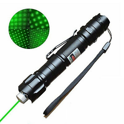 New Professional 1mw 532nm 8000M Powerful Green Laser Pointer Pen Lazer Beam UK