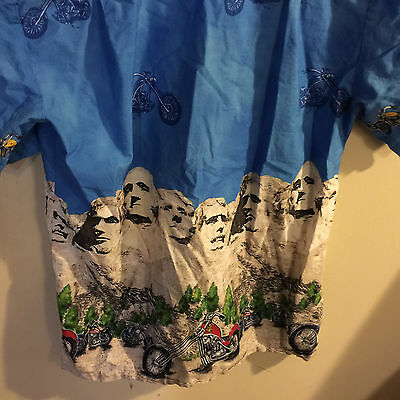 34e0af832 ... Men's Ky's Hawaii Motorcycle Mount Rushmore Presidents Camp Hawaiian  Shirt S 7