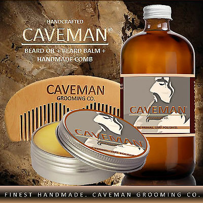 Health & Beauty Aftershave & Pre-shave Free Comb High Quality Goods Hand Crafted Caveman® 3 Scents Manly Beard Oil Beard Conditioner