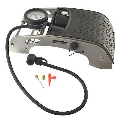 Car Bicycle Foot Pump Air Tyre Inflator Double Barrel Foot pump 0-100psi TE032 3