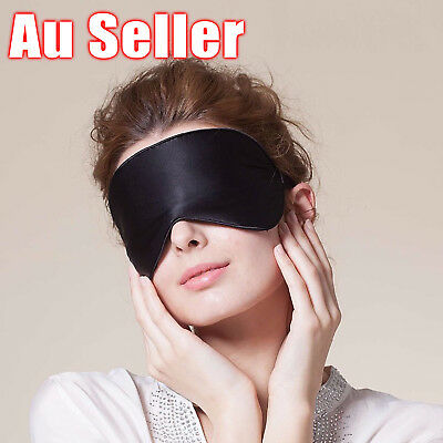 100% Pure Silk Sleeping Sleep Soft Eye Mask Blindfold Lights Out Travel Relax 8