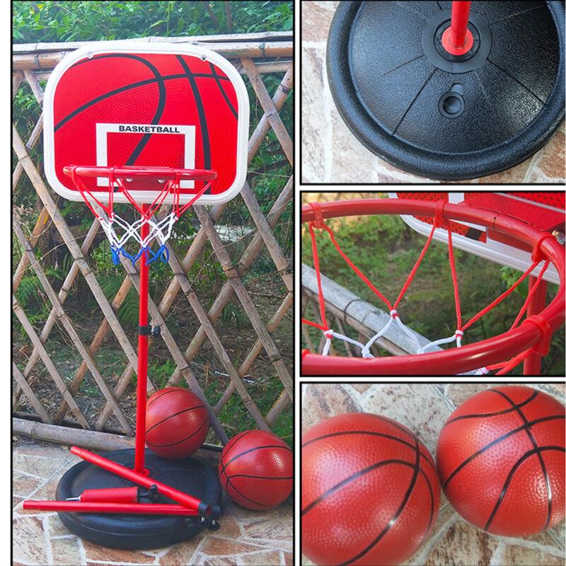 Adjustable 170cm Kids Basketball Back Board Stand & Hoop Set Children Gift UK 2