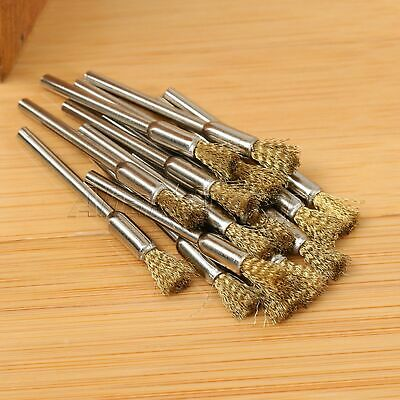 15pcs 5mm Brass Wire Brushes Wheel For Grinder Drill Rust Weld Power Rotary Tool 4