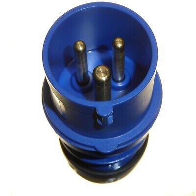 16A 3 Pole Plug 240v IP44 Blue 1 Phase 2P+E IEC/CEE Caravan Trailer Garo 16 Amp 5