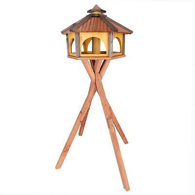 Mangeoire d'oiseaux mangeoires à oiseaux mangeoire avec le support bois jardin 6
