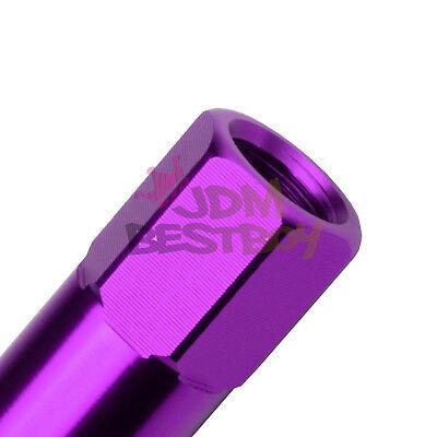 Purple 20 PCS M12X1.5mm Lug Nuts Extended Tuner Aluminum Wheels Rims Cap WN02 4
