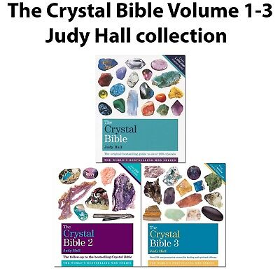 Judy Hall 3 Books Collection Set The Crystal Bible Volume 1-3 Godsfield Bibles 2
