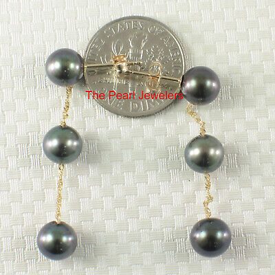 14k Yellow Gold Fish Hook Gold Ball Design; Pink Cultured Pearl Earrings TPJ